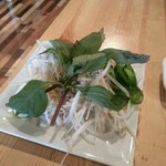 Pho Garnish - Thai basil, bean sprouts, and jalapenos