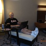 Relaxing in the room