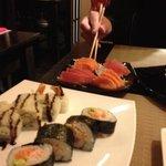 sashimi, roll e futomaki