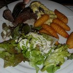 Kangaroo steak.