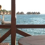 View from our bungalow deck towards the southern bungalows