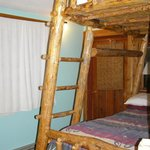 Bunk beds in back cabin