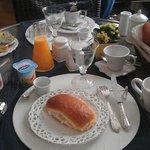 Ontbijt met zilver bestek!