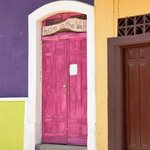 Love these pink doors !!