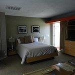 Bed side of room
