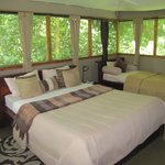 room in tented lodge