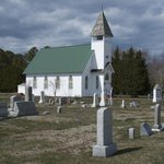 local church and graveyard...oldest tombstone 1852