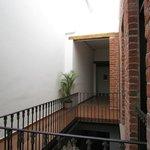 corredor do piso superior, acesso aos quartos