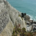 Minack Theatre with founders plaque