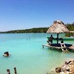 belleza en la laguna de Bacalar