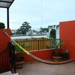 View from Rooftop Terrace, stairway and hammock