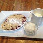 berry crumble (too tart)