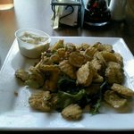 another view of the fried pickles