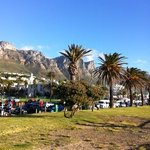 Camps Bay, part view of the mountain.