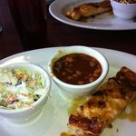 Whiskey Glazed Salmon with two sides