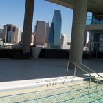 View of pool and downtown