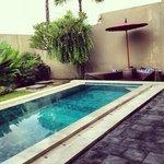 pool in villa