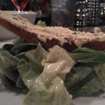 Buttercrunch Lettuce, Buttermilk Dressing, Deviled Egg Crostini