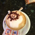 Cappuccino from the Cafe