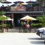 Umbrella's Beach Bar - from parking lot close to beach