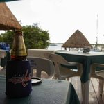 Enjoy a delicious beer by the agua