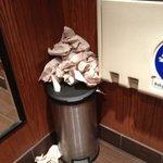 overflowing trash..