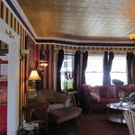 Cozy parlor to sip your coffee and visit.