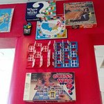 vintage games decorate the walls at Pamela's Oakland location near Pitt.