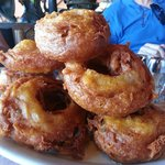Onion Rings the size of glazed donuts