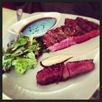 rib-eye steak. bordelaise