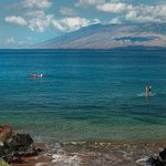 The calm waters of Wailea Beach over look West Maui