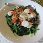 Stir Fry Spinach with Scallops