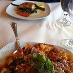 Salmon special and Bolognese