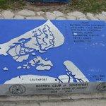 Granite map at little park