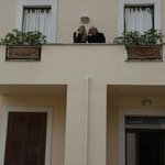 Gina (the owner) and I outside of our room on the 2nd floor.