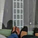 The skywalk on the 18th floor. Definitely not for the faint hearted like me.