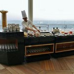 breakfast buffet served on the 18th floor