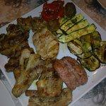 grigliata per due di verdure e carne