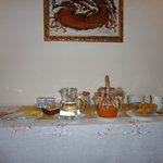 Il tavolo con la prima colazione