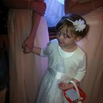 My little flower girl enjoyed the party