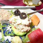 My excellent tuna salad stuffed avocado