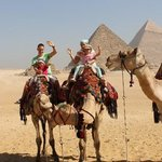 Happy family on Camels -Pyramids tour with Toursgate
