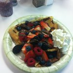 Mixed Berry with Nuttella Crepe