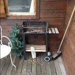la terrasse du gite sale et pas entretenue