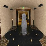 'Tunnel' entrance to spa leading from foyer