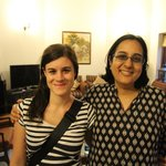 Meera and my wife at wonderful Saubhag B&B