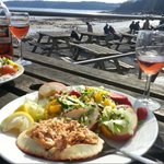 Delicious Crab salad and a nice Rosé wine