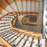 The beautiful period staircase