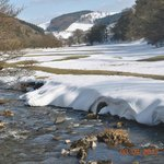 The River Ceiriog next to The West Arms.