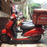 Their home delivery scooter !